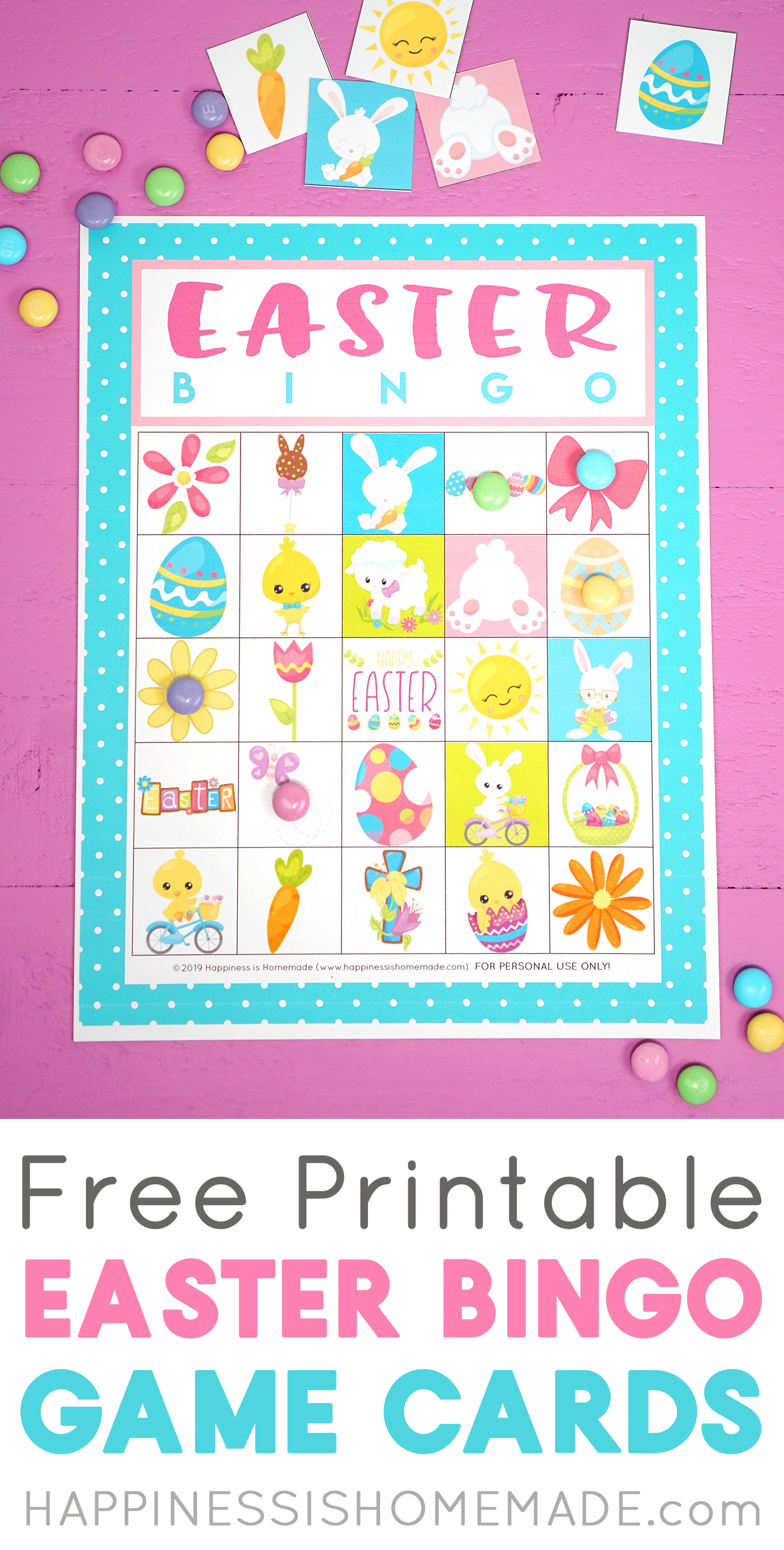 graphic about Free Printable Easter Cards named Absolutely free Printable Easter Bingo Sport Playing cards - Contentment is Selfmade