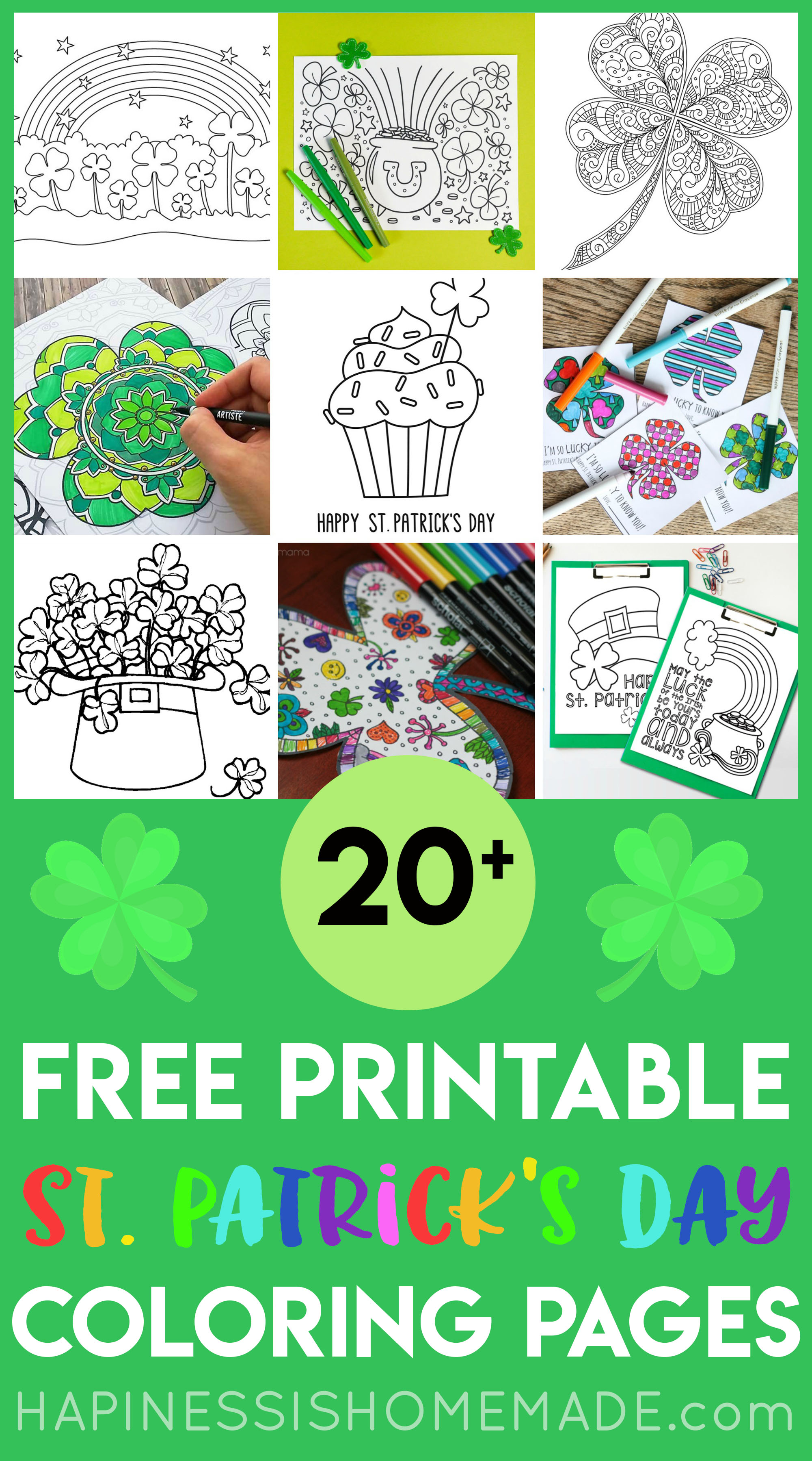 photo relating to St Patrick's Printable Coloring Pages called Totally free St. Patricks Working day Coloring Web pages - Contentment is Do-it-yourself