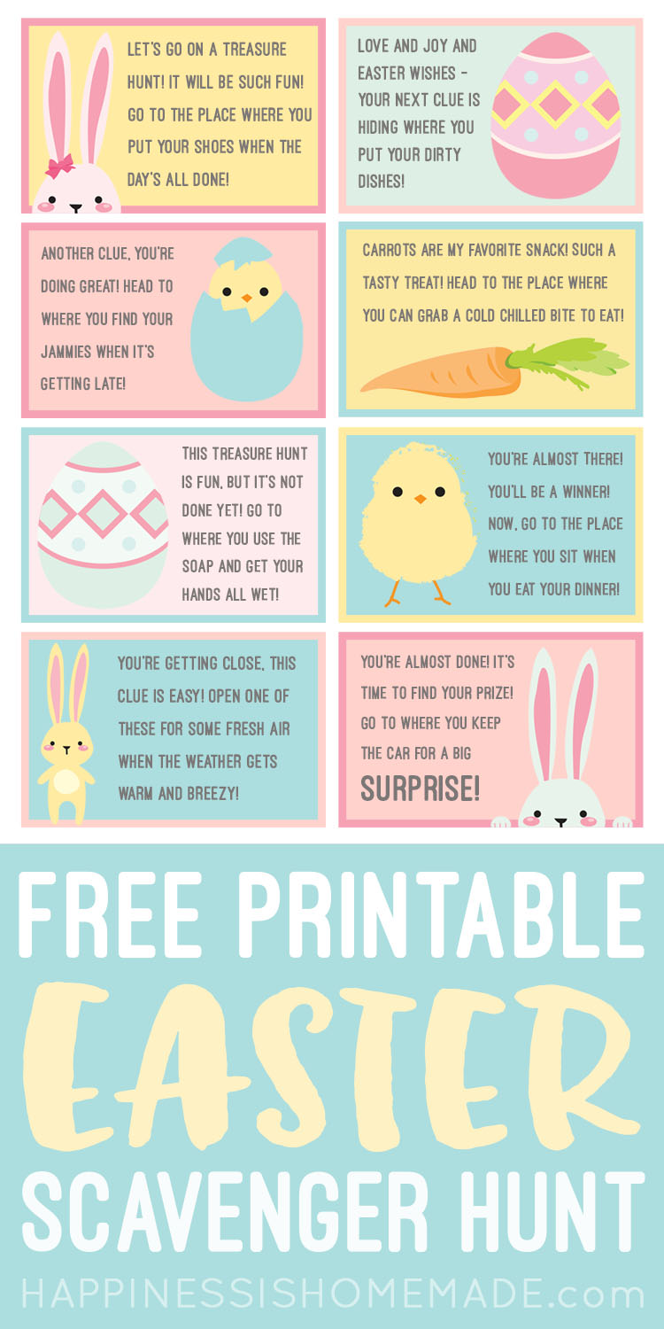picture about Printable Scavenger Hunt for Kids referred to as Easter Scavenger Hunt - Cost-free Printable! - Contentment is Selfmade