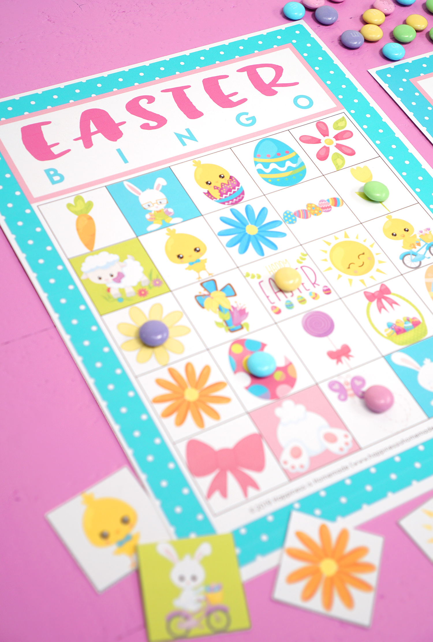 picture about Free Printable Easter Bingo Cards titled Totally free Printable Easter Bingo Video game Playing cards - Contentment is Selfmade