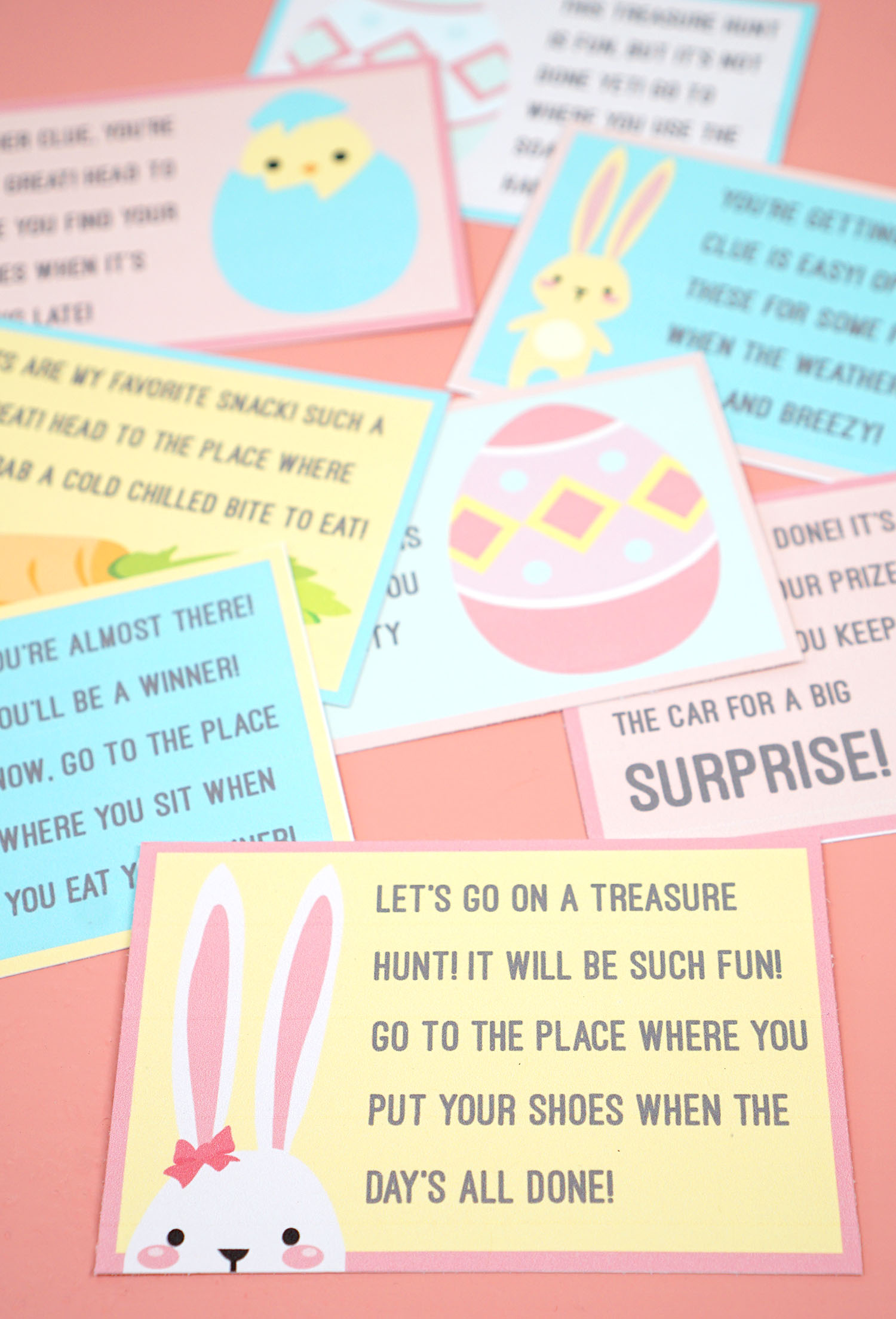 photo about Clue Cards Printable known as Easter Scavenger Hunt - Cost-free Printable! - Pleasure is Do-it-yourself