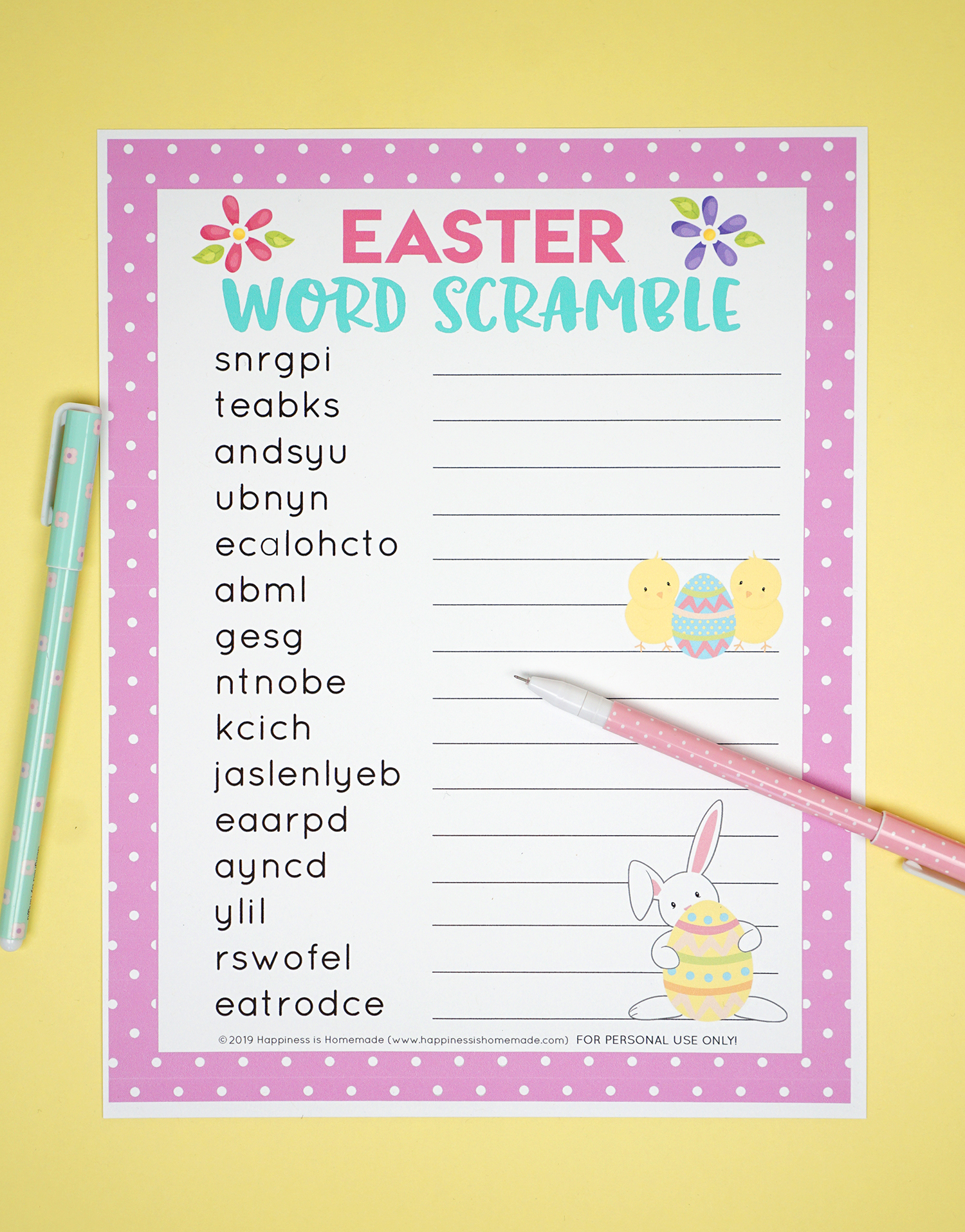 image relating to Word Games for Seniors Printable named Easter Term Scramble Printable - Pleasure is Handmade