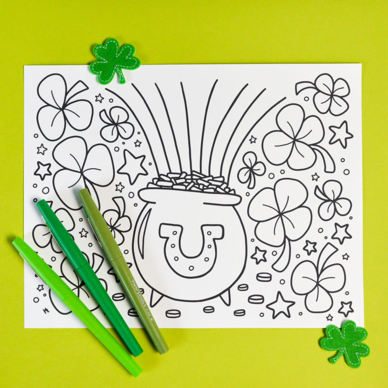 Free St Patrick S Day Coloring Pages Happiness Is Homemade