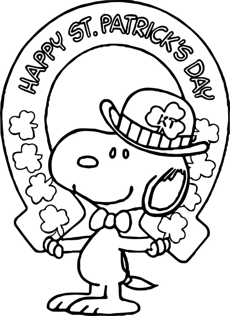 Free St. Patrick's Day Coloring Pages - Happiness is Homemade | 1055x768