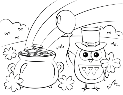 Free St. Patrick's Day Coloring Pages - Happiness is Homemade