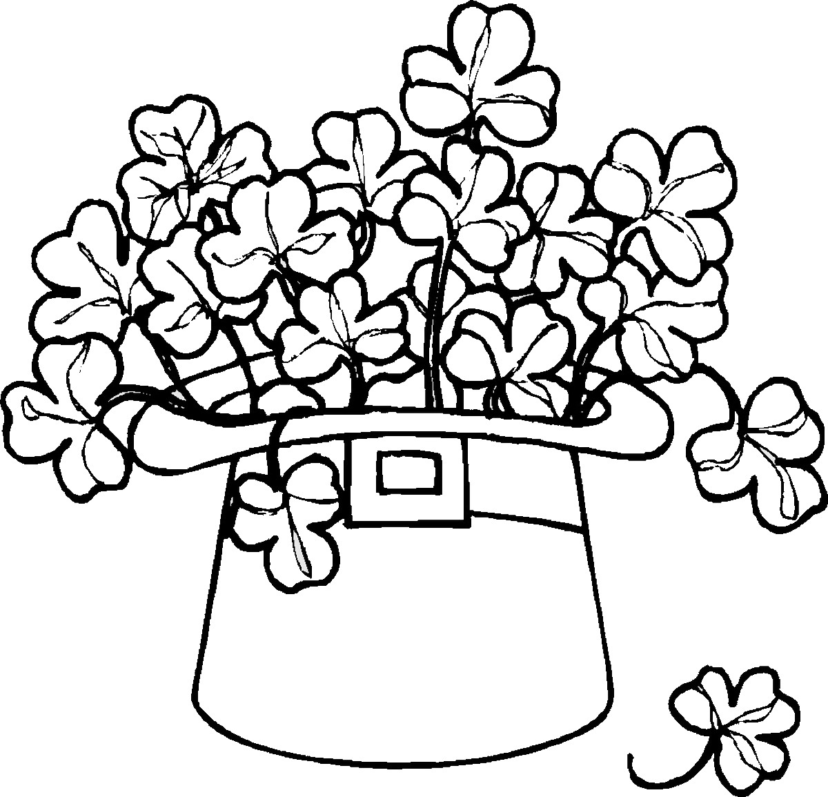 Free St. Patrick\'s Day Coloring Pages - Happiness is Homemade