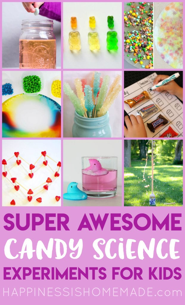 15 Candy Science Experiments For Kids Happiness Is Homemade