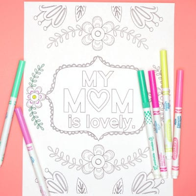 Mother's Day Coloring Pages – Free Printables