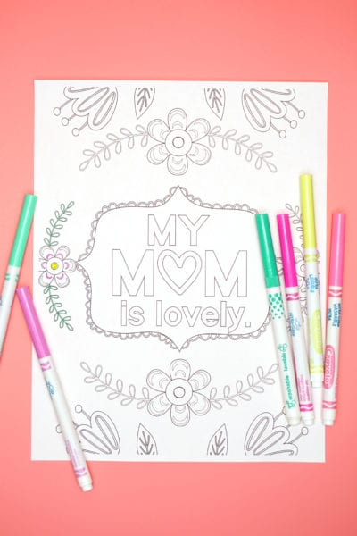 Cute Mother's Day Coloring Page