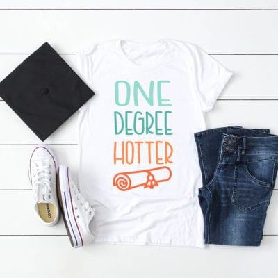 """One Degree Hotter"" Graduation SVG"