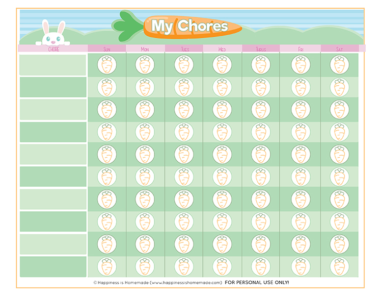 picture regarding Printable Job Chart known as Totally free Printable Chore Chart for Little ones - Contentment is Home made