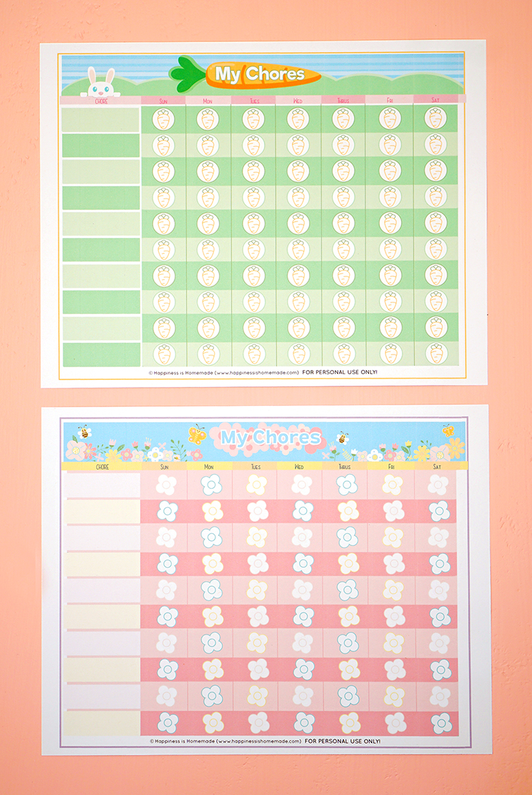 photograph relating to Chore Chart Printable named Absolutely free Printable Chore Chart for Little ones - Contentment is Handmade