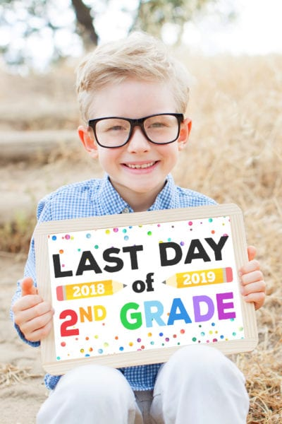 Printable Last Day of School Signs
