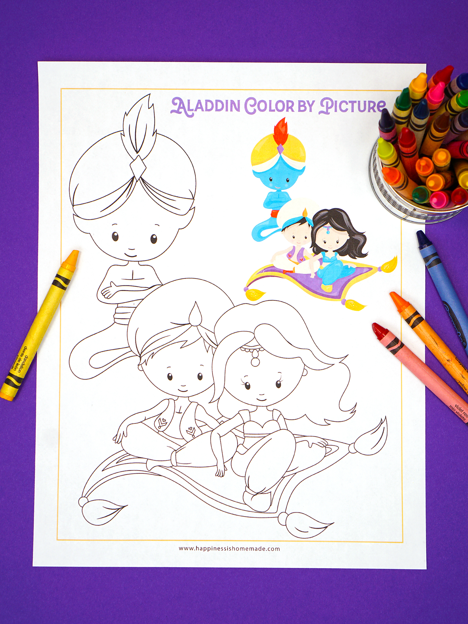 Aladdin Free Printable Coloring Page