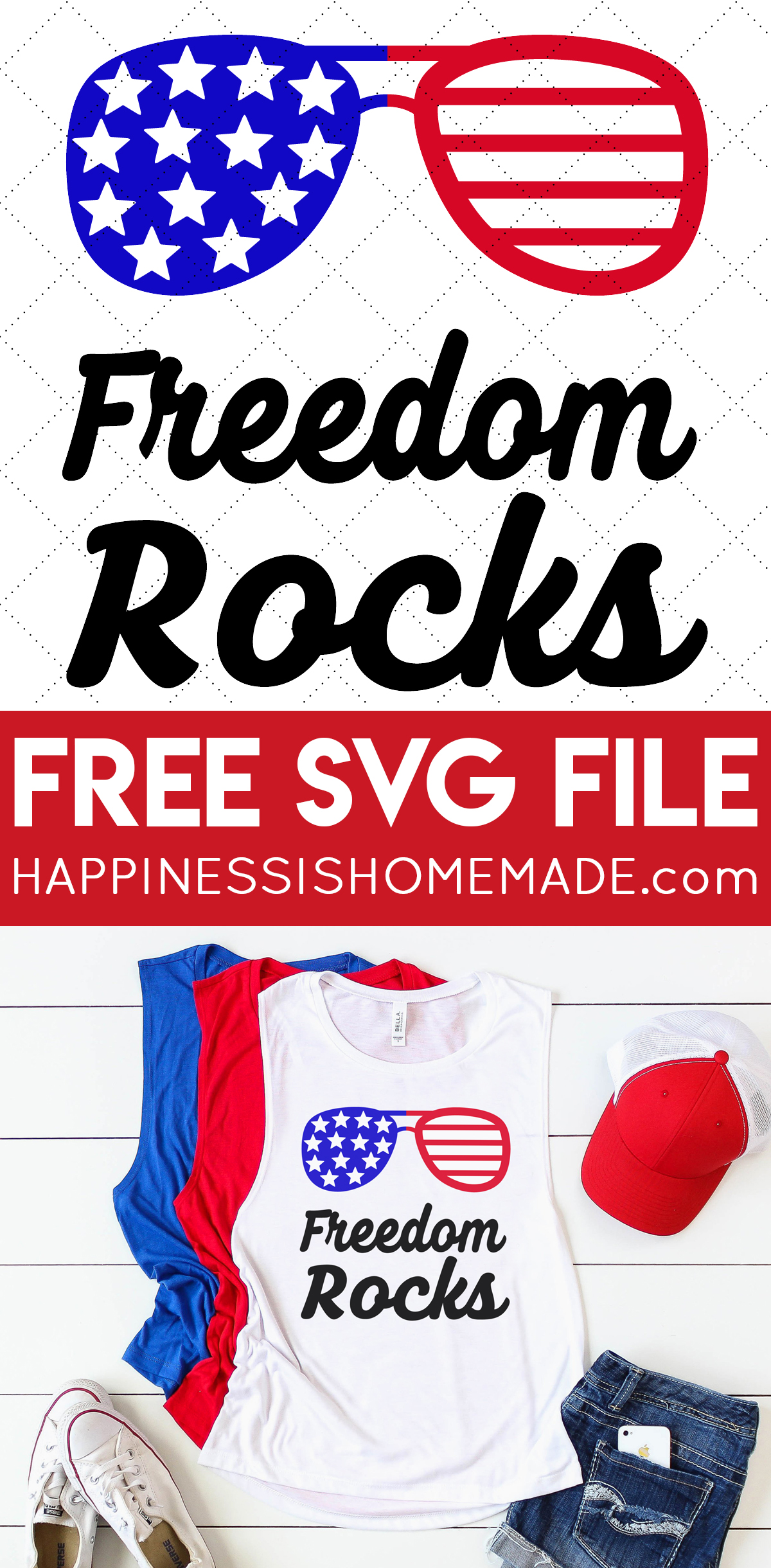 Free 4th Of July Svg Files Happiness Is Homemade