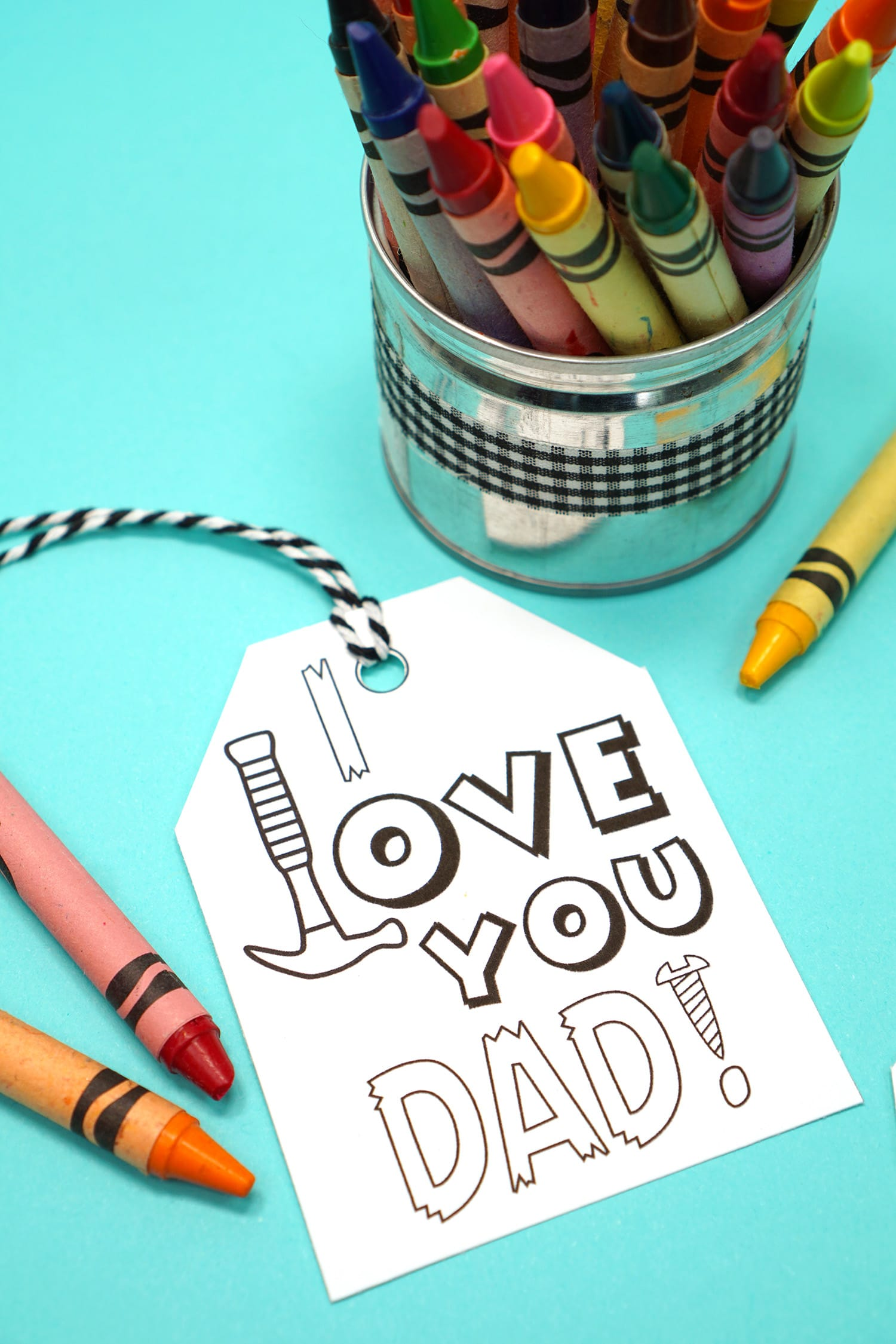 """I Love You, Dad"" printable Father's Day tag"