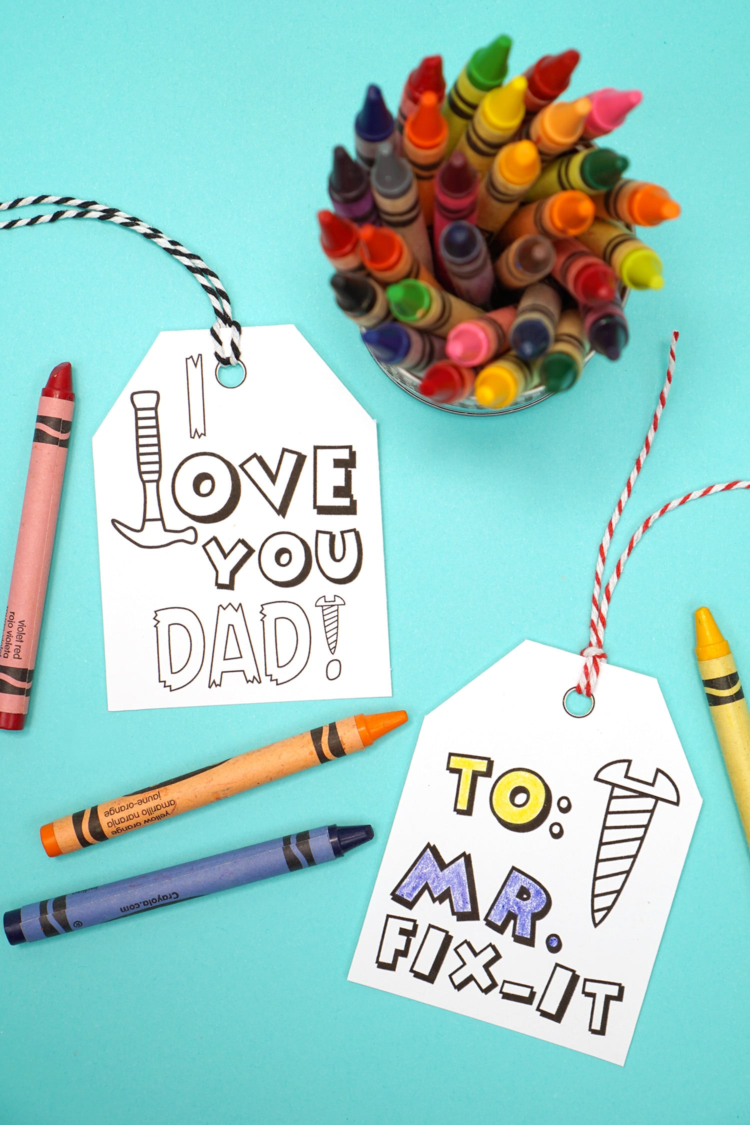 graphic about Free Printable Fathers Day Tags named Printable Fathers Working day Card + Coloring Webpage - Joy is
