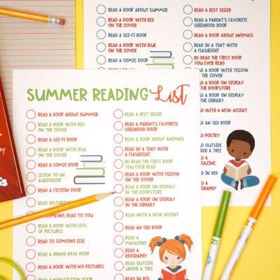 Printable Summer Reading Challenge List for Kids
