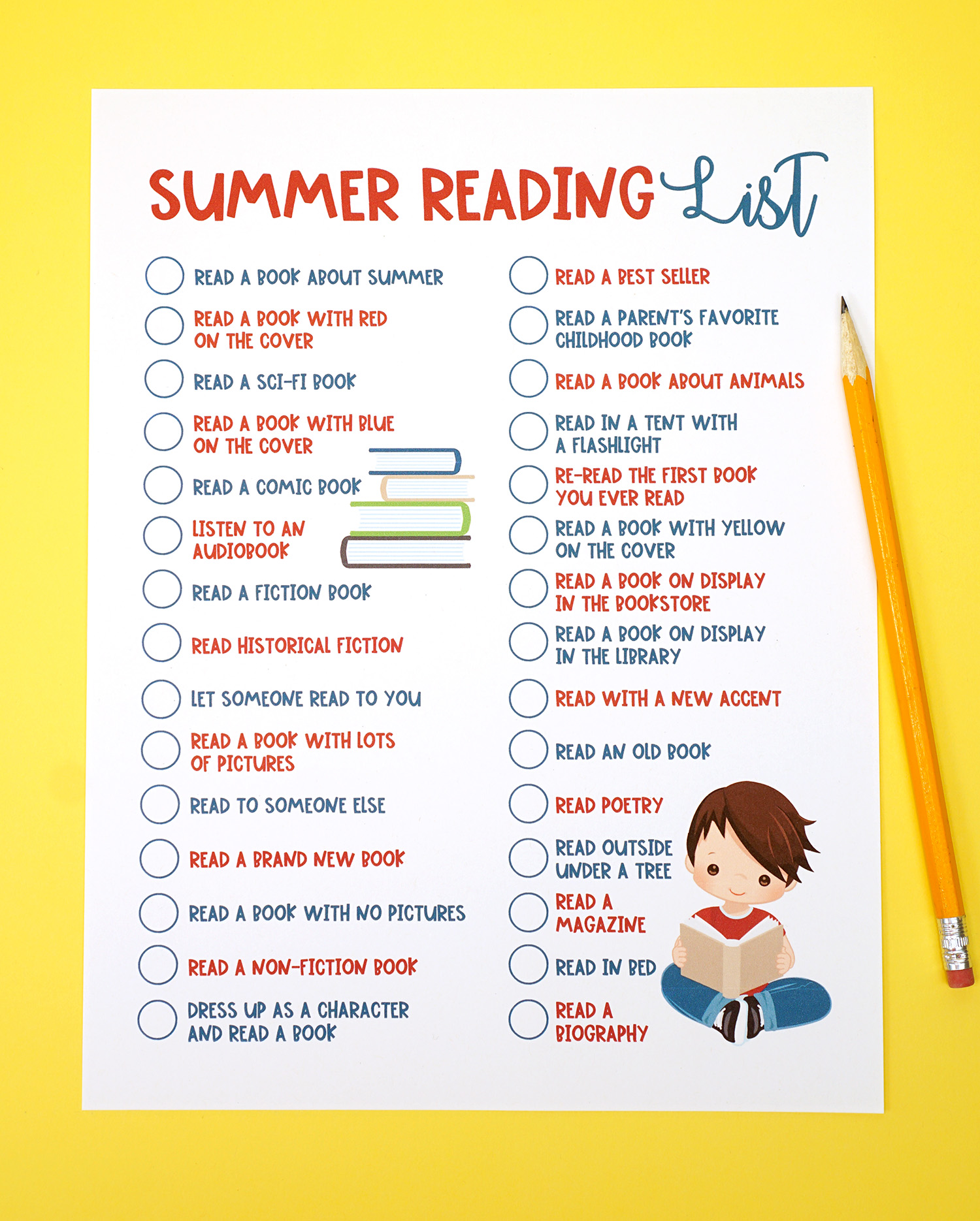 image relating to Who Was Book Series Printable List named Printable Summer months Examining Trouble Listing for Small children - Pleasure