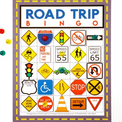 Road Trip Bingo Game – Free Printable