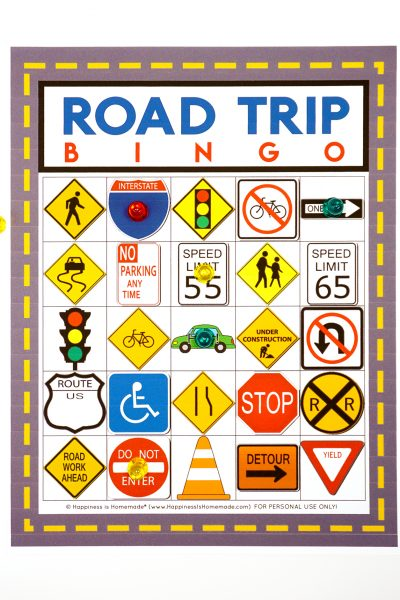 Free Road Trip Bingo Printable