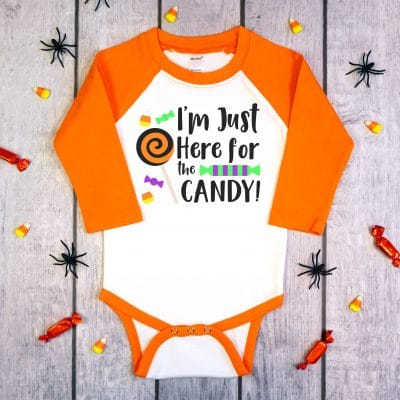 FREE Halloween SVG: I'm Just Here for the Candy!