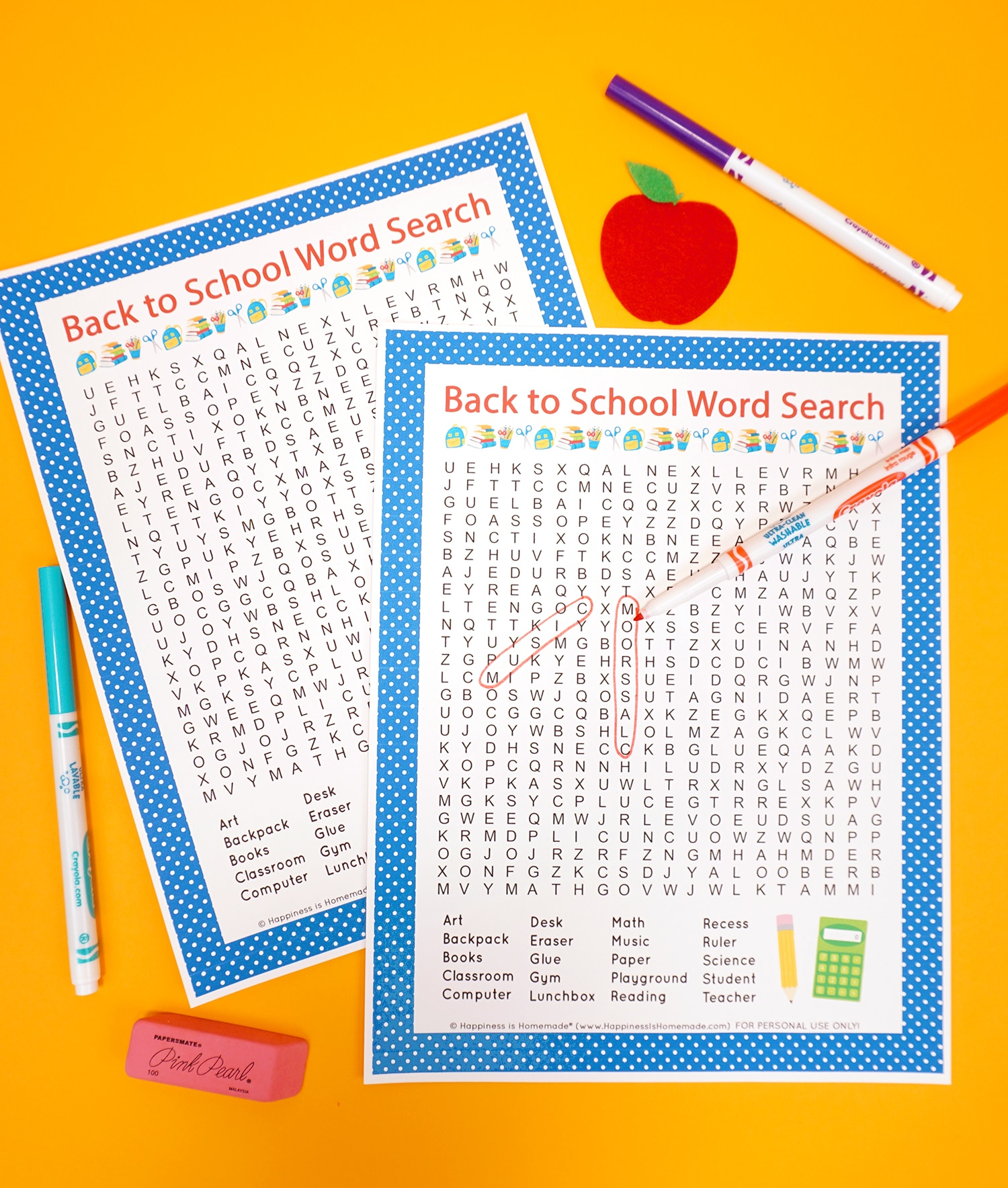 photograph about School Word Search Printable known as Back again in direction of College Term Glance Printable - Pleasure is Home made