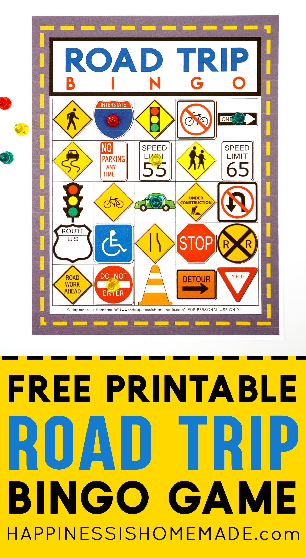 picture about Road Trip Bingo Printable identify Street Holiday Bingo Recreation - Totally free Printable - Pleasure is Handmade