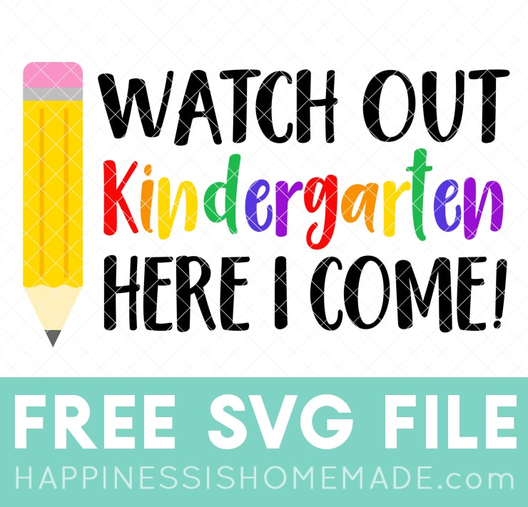 First Day of School Shirt + SVGs - Happiness is Homemade