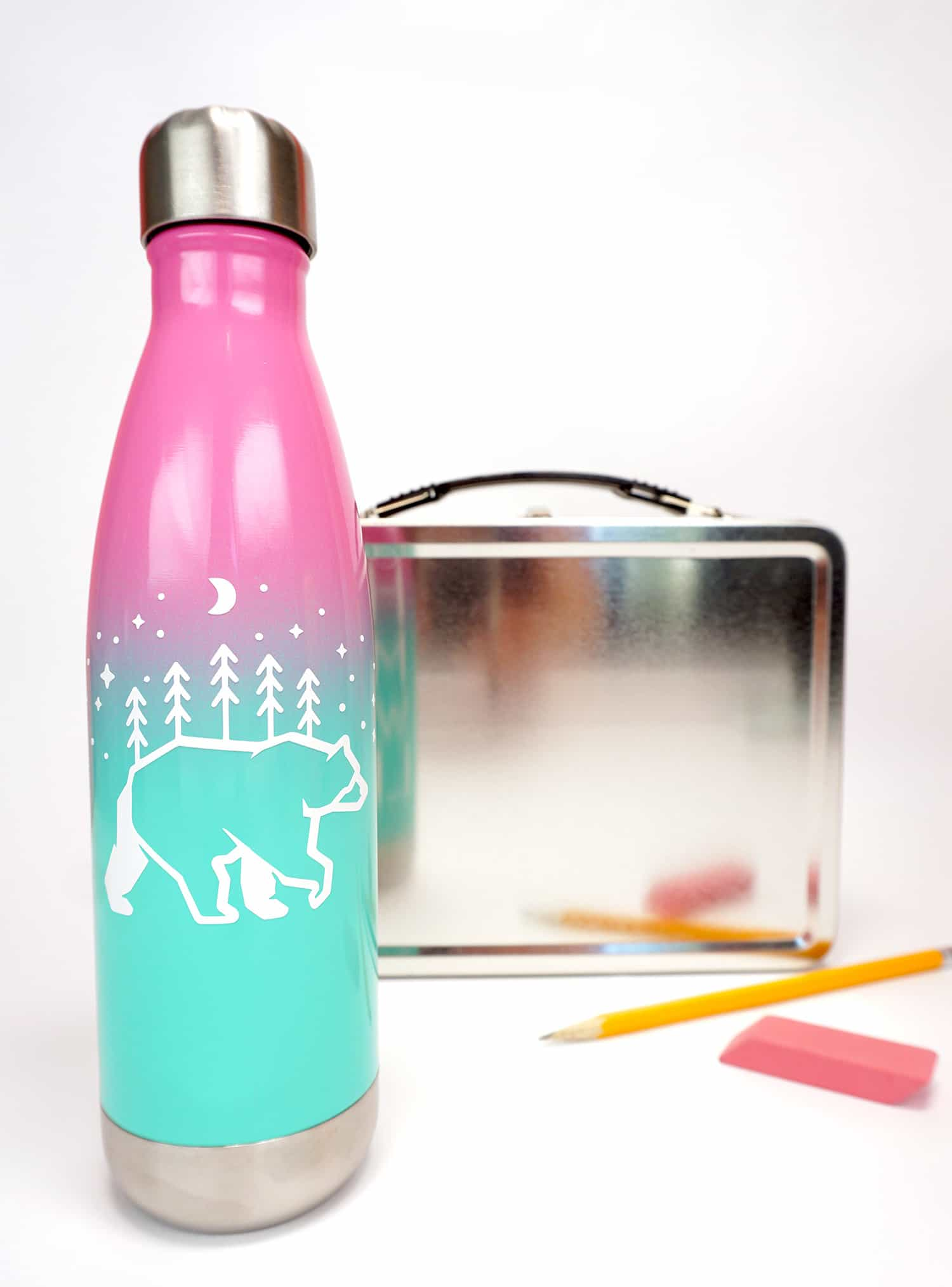 custom water bottles with cricut happiness is homemade. Black Bedroom Furniture Sets. Home Design Ideas