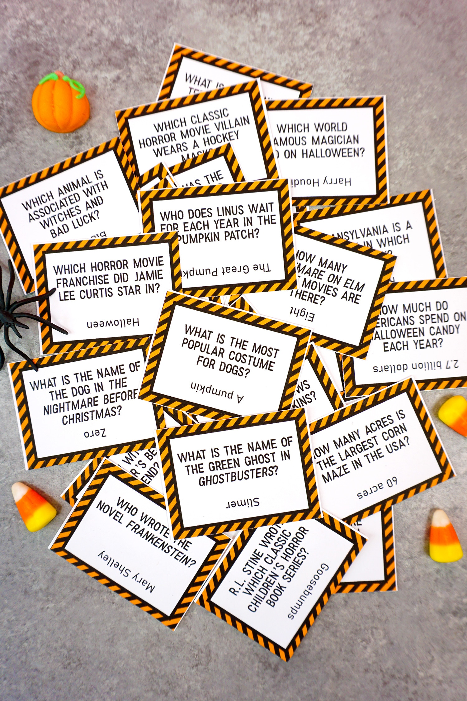 graphic about 4th of July Trivia Printable referred to as Printable Halloween Trivia Match - Pleasure is Selfmade