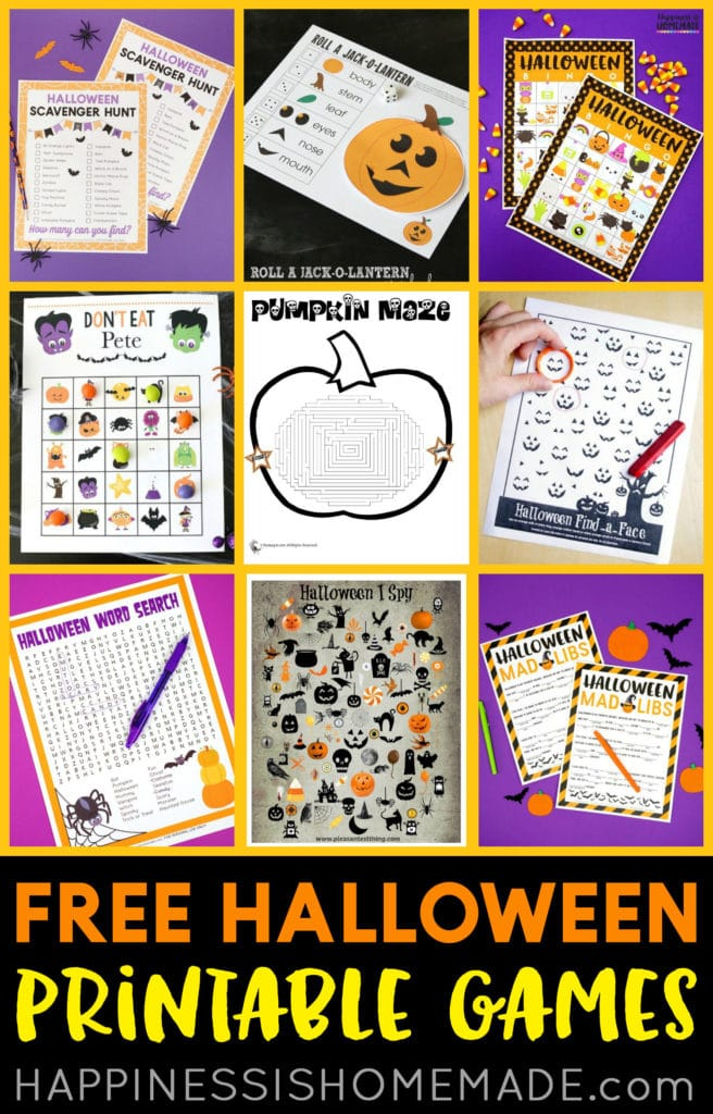 Free Halloween Games Printables