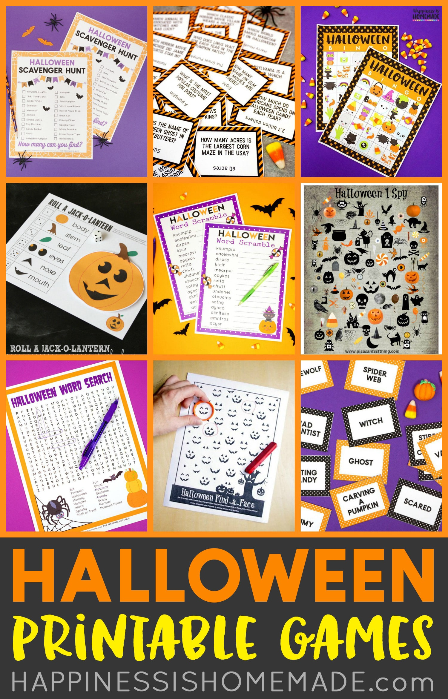Free Halloween Printable Games For Kids