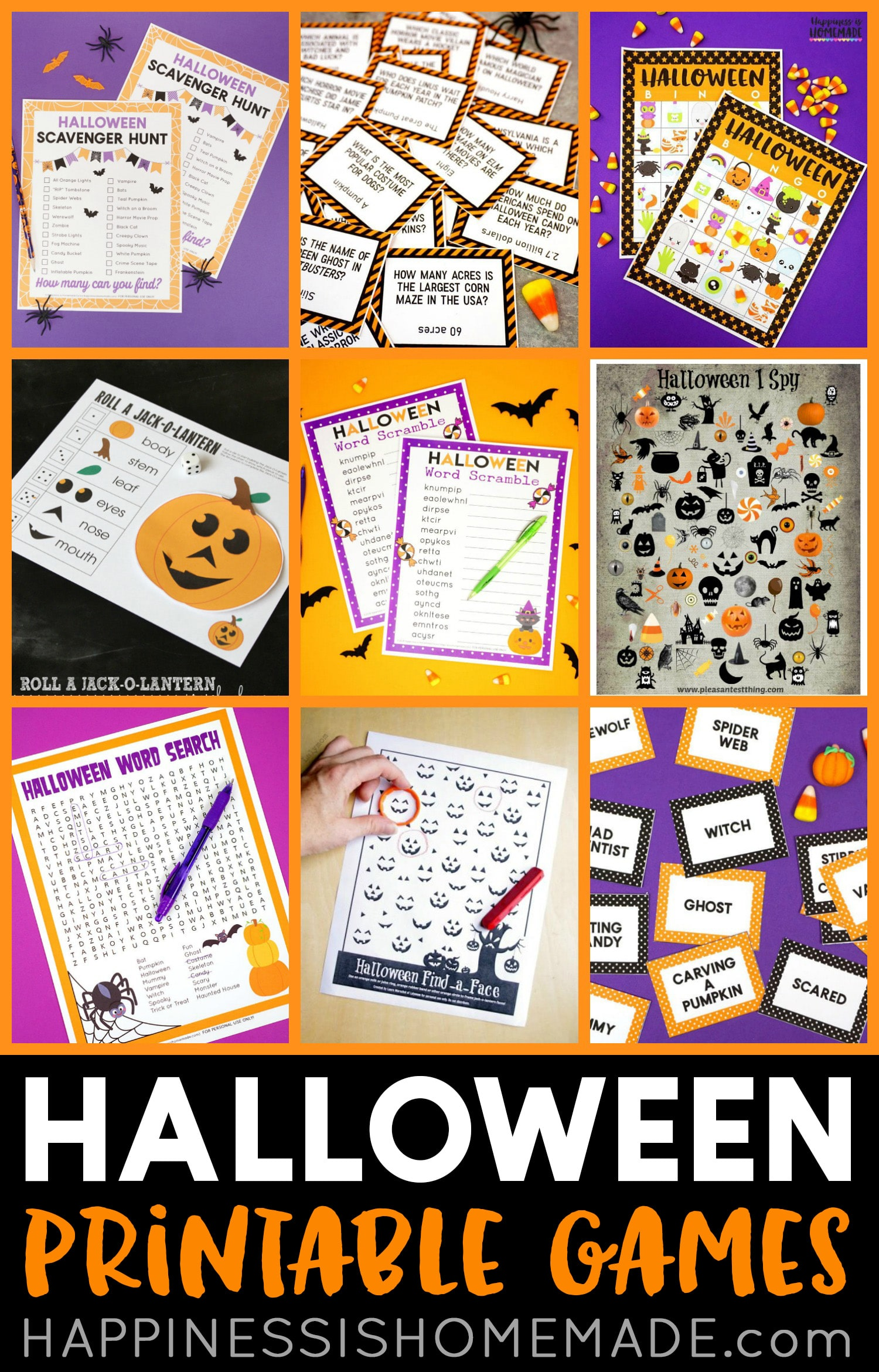 Free Printable Halloween Games For Kids