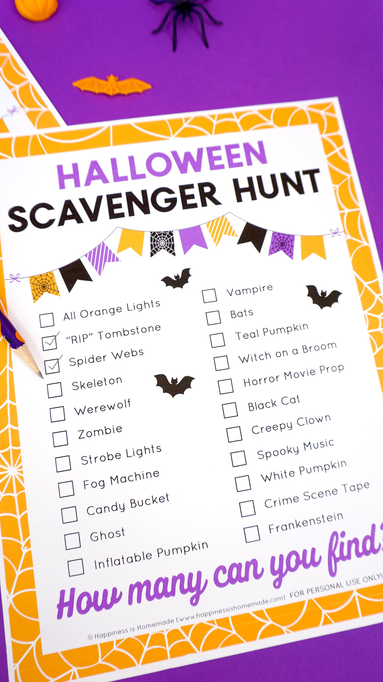 image relating to Look and Find Printable identified as Cost-free Printable Halloween Scavenger Hunt - Pleasure is Do-it-yourself