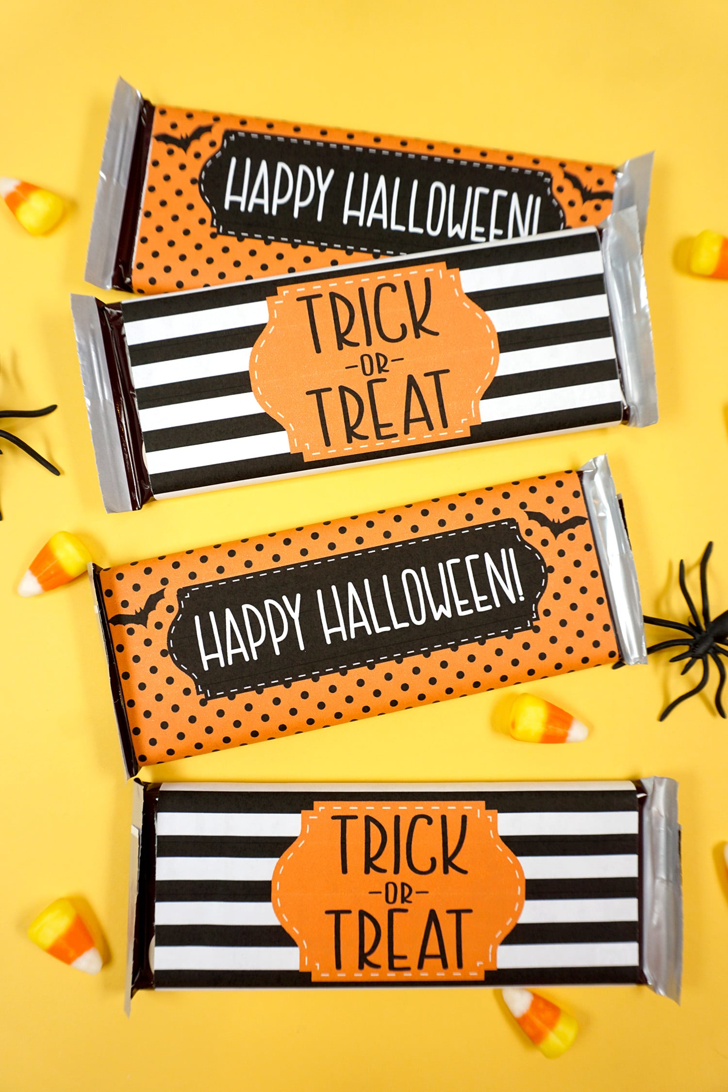 photo relating to Free Printable Candy Bar Wrappers called Absolutely free Printable Halloween Sweet Bar Wrappers - Joy is