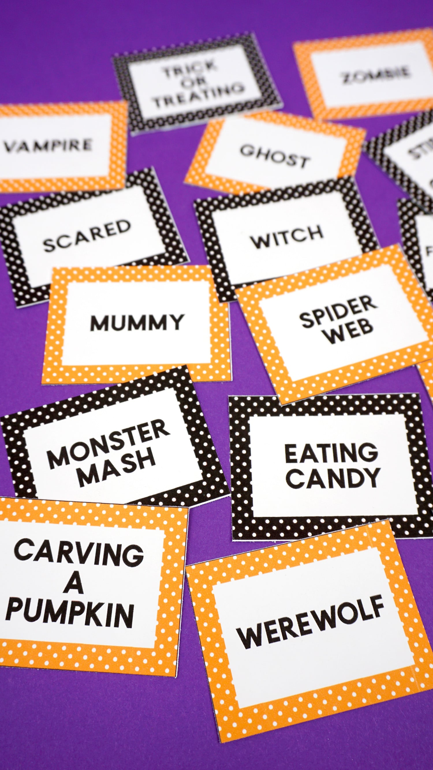 photograph relating to Halloween Charades Printable referred to as Halloween Charades Match Playing cards - Contentment is Home made