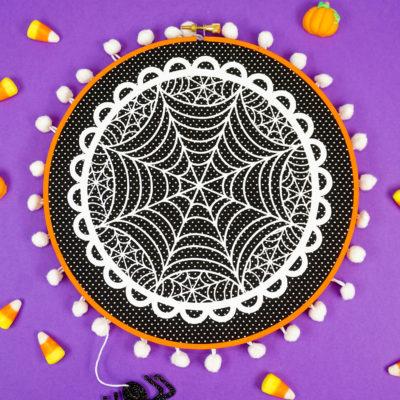 Easy Halloween Hoop Art with Cricut