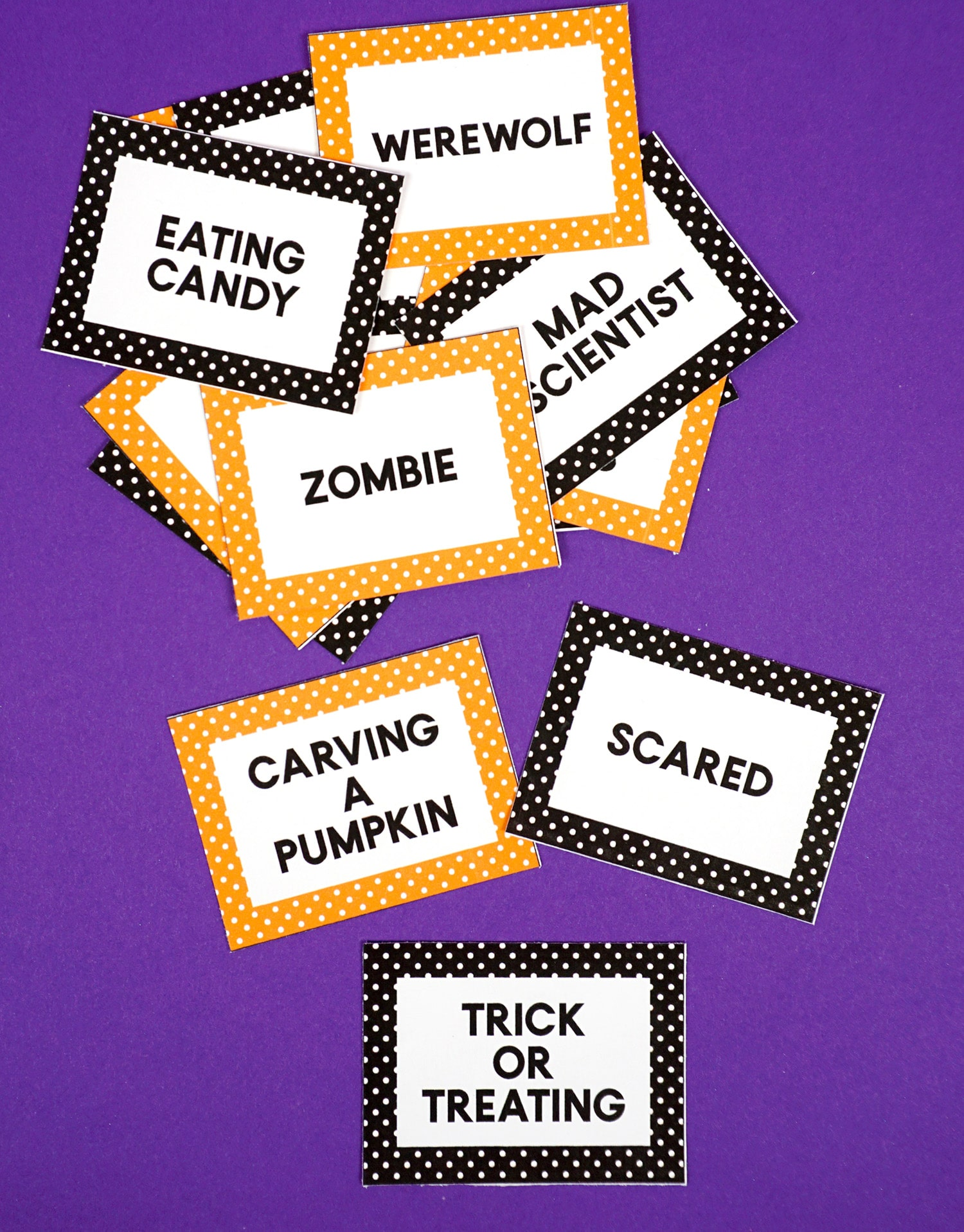 graphic relating to Halloween Charades Printable named Halloween Charades Video game Playing cards - Joy is Handmade
