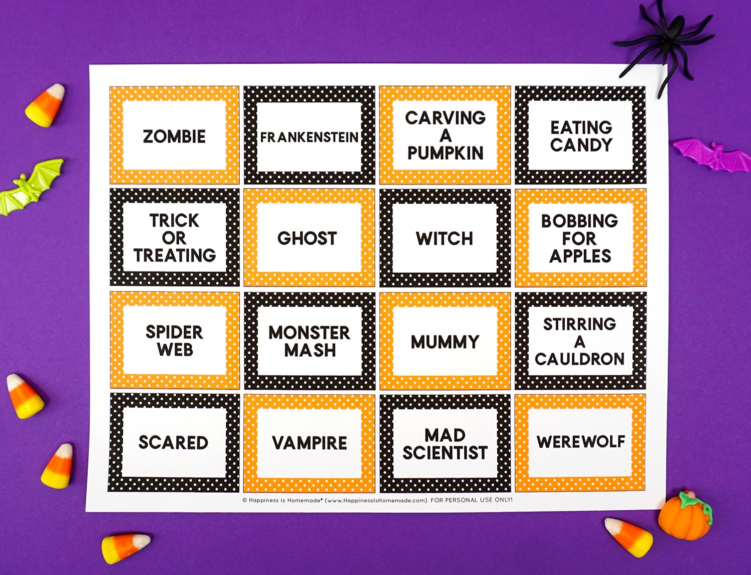 picture relating to Halloween Charades Printable named Halloween Charades Activity Playing cards - Joy is Do-it-yourself