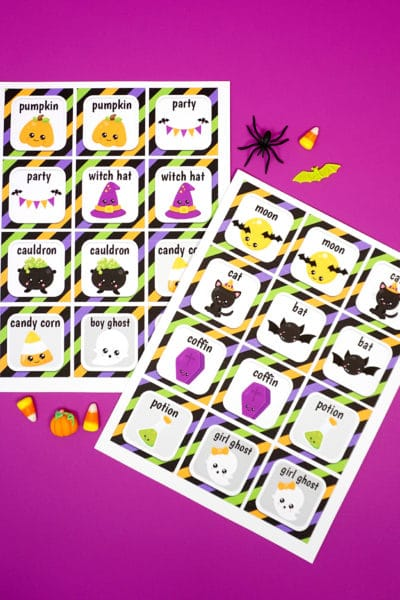 Printable Halloween Memory Game Cards