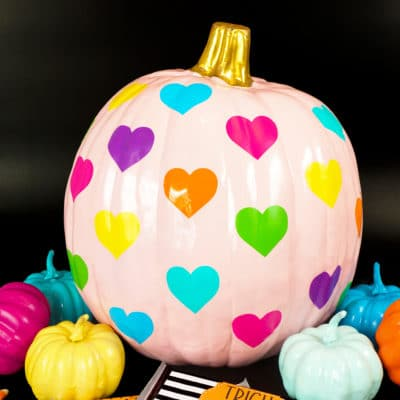 Rainbow Heart Pumpkin