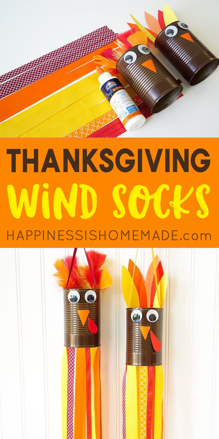 Thanksgiving Craft For Kids Windsock Turkeys