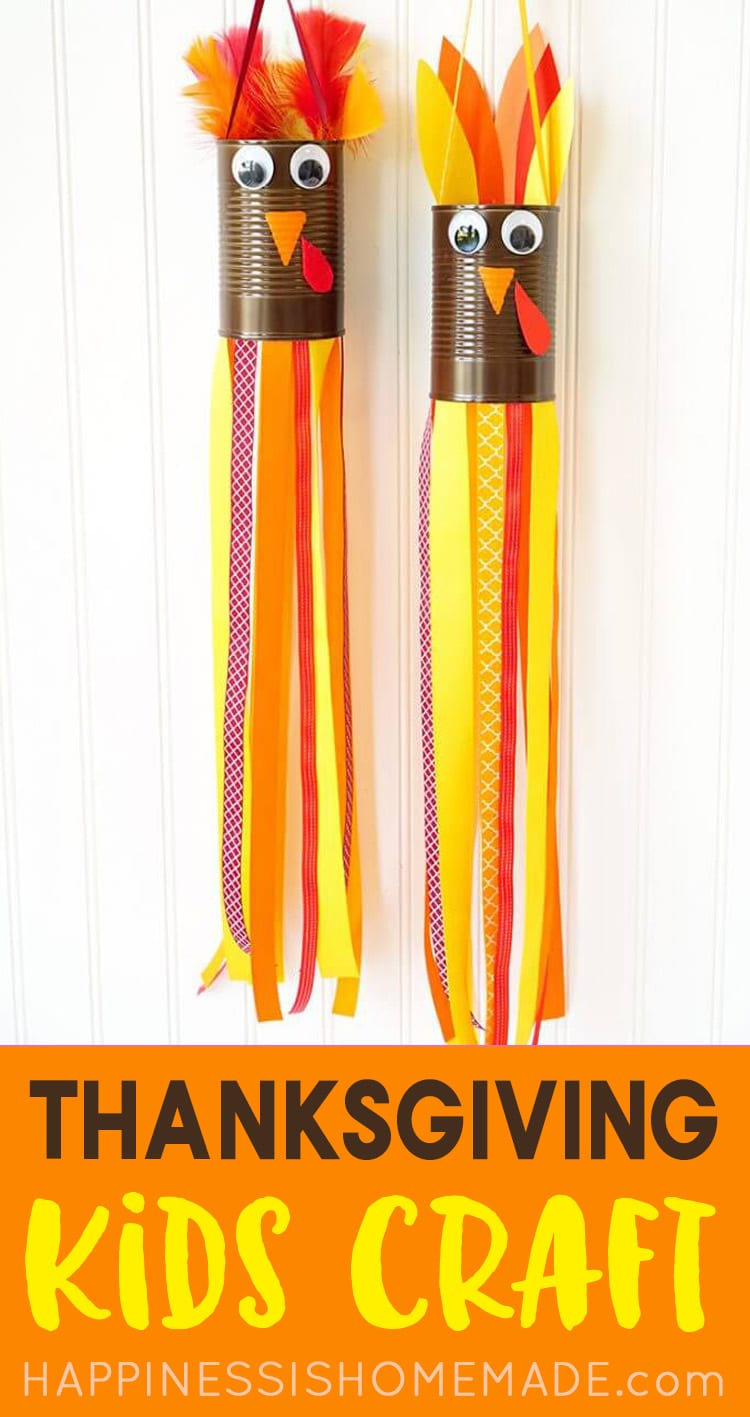 Thanksgiving Kids Craft Turkey Windsocks Craft