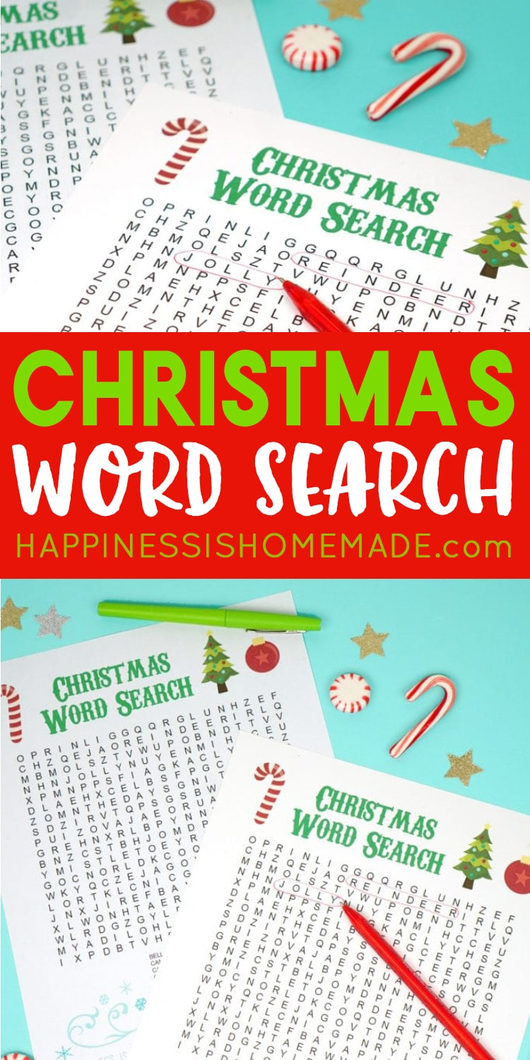 Christmas Game Word Search