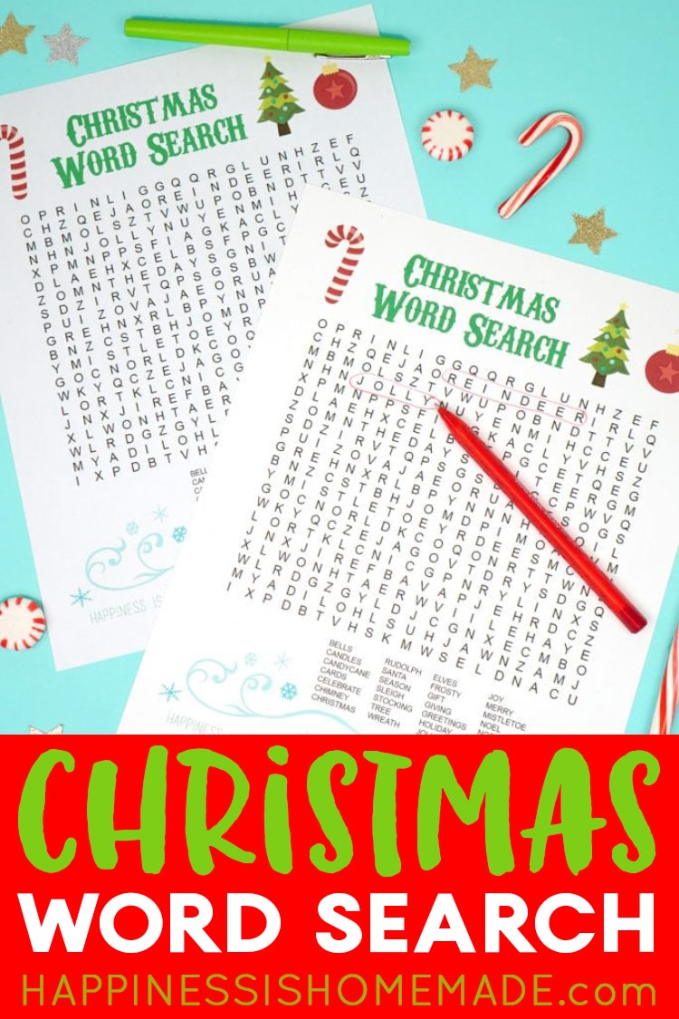 Christmas Word Search Game