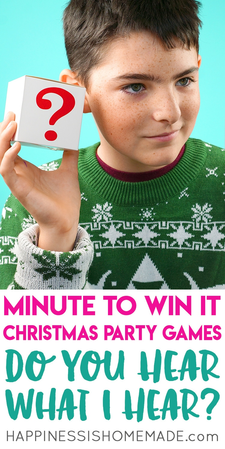 Minute to Win It Christmas Games for