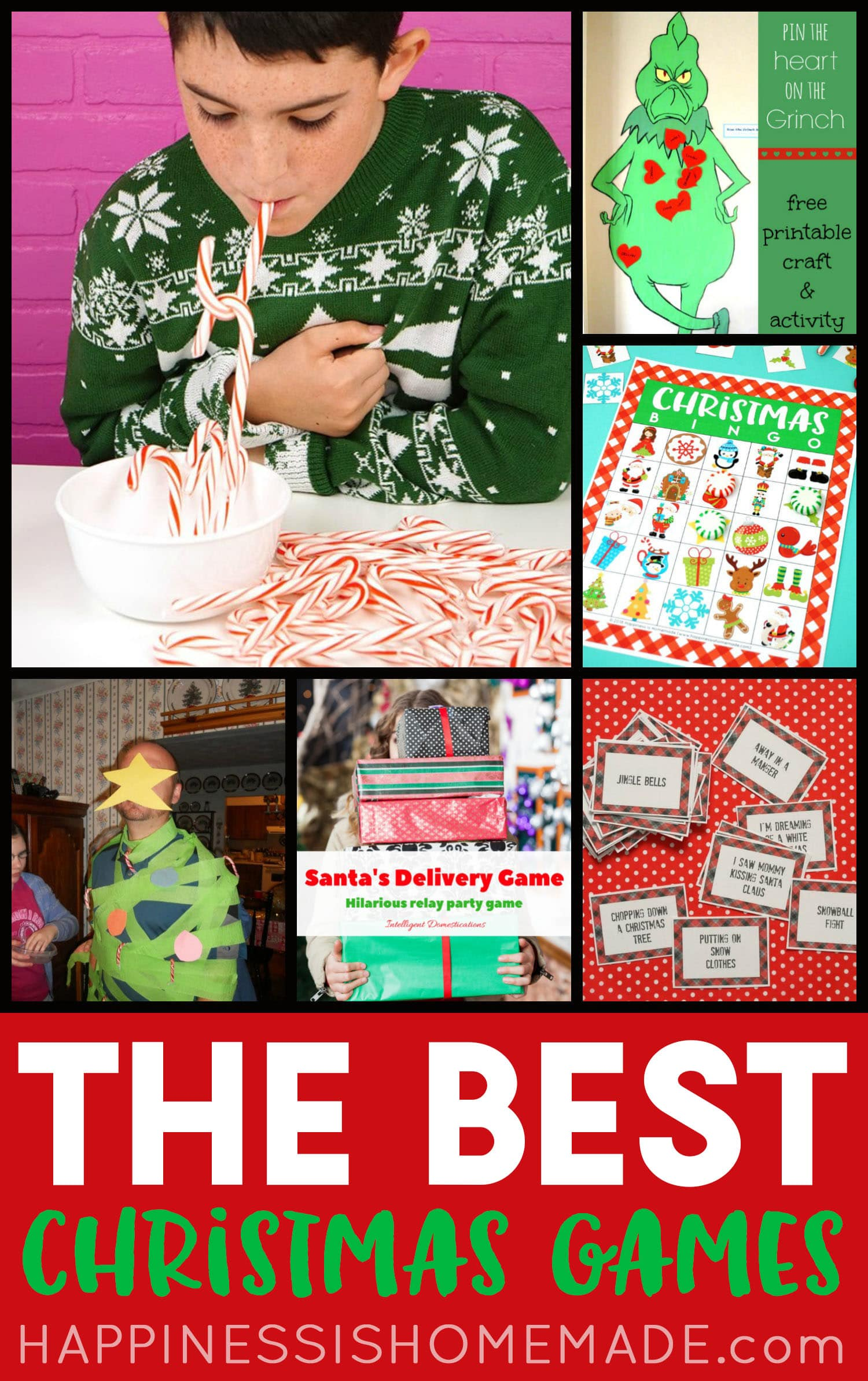 The Best Christmas Games collage