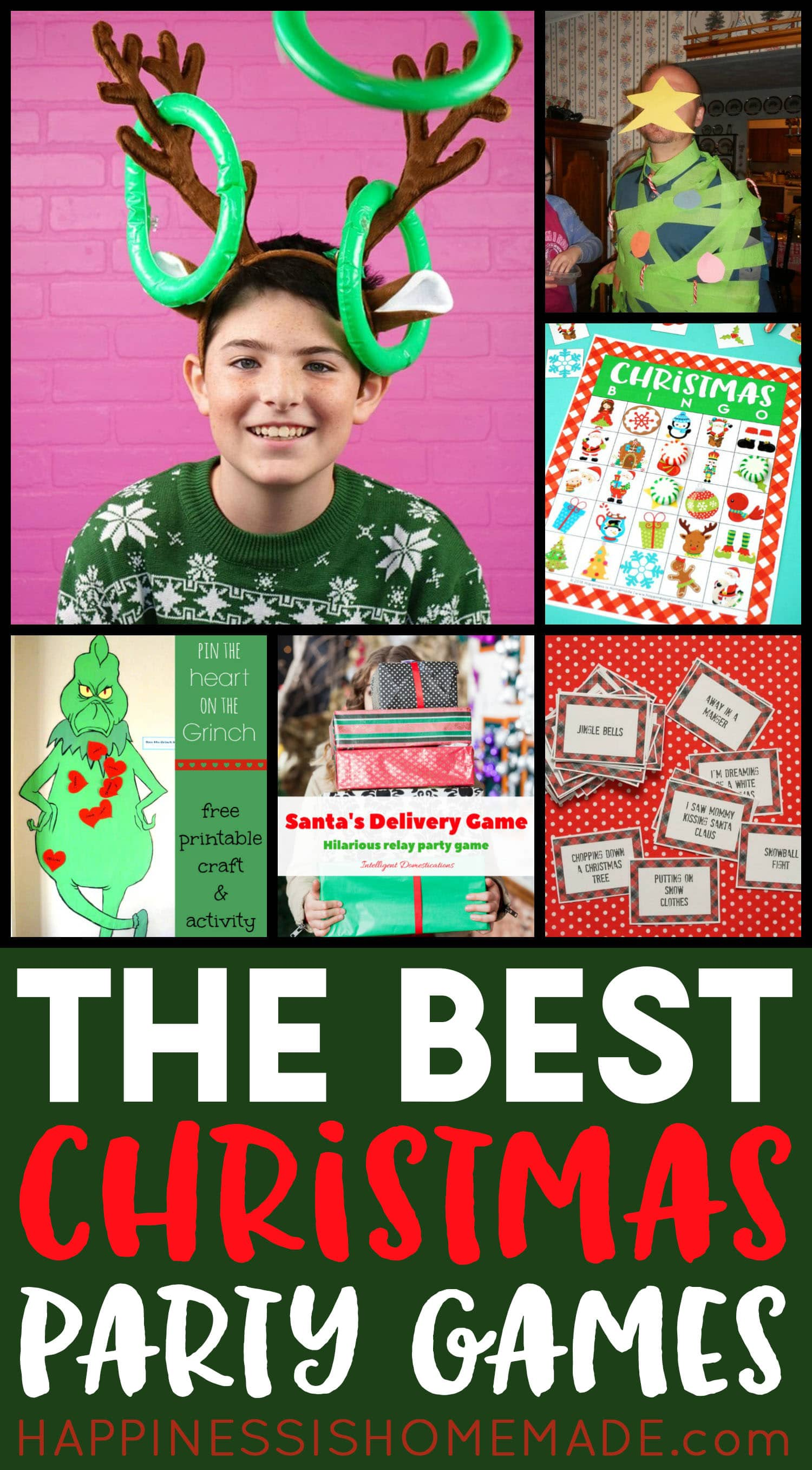 The Best Christmas Party Games collage