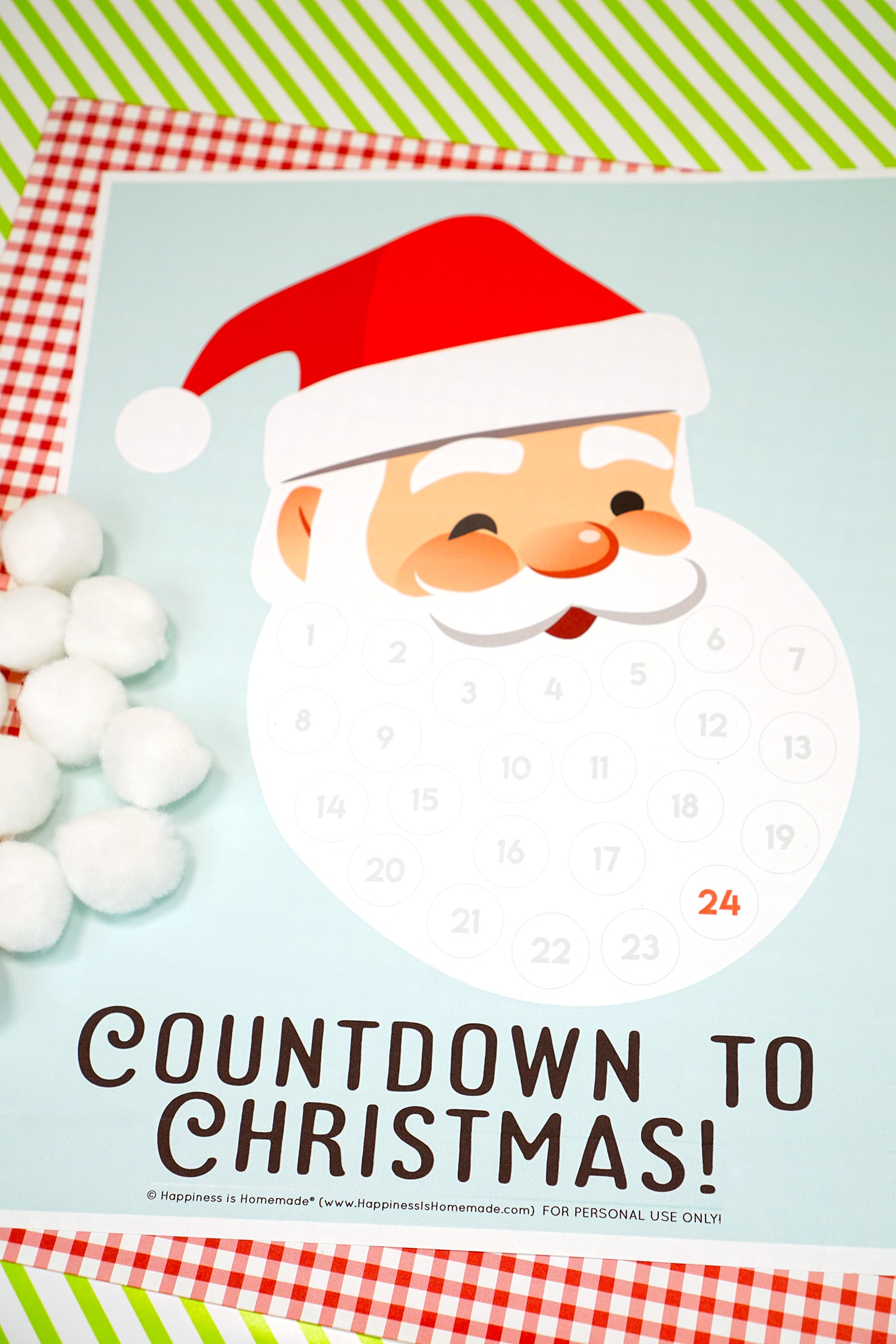 Christmas Countdown - Santa Beard Advent Calendar